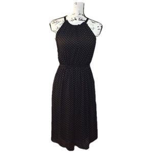 Max Studio Black Dress White Polka Dots - size M